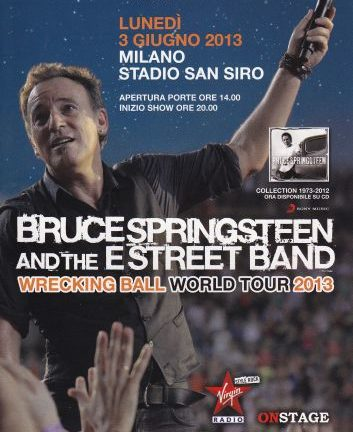 Accadde oggi: Bruce Springsteen & The E Street Band – 03-06-2013 – Stadio San Siro – Milano