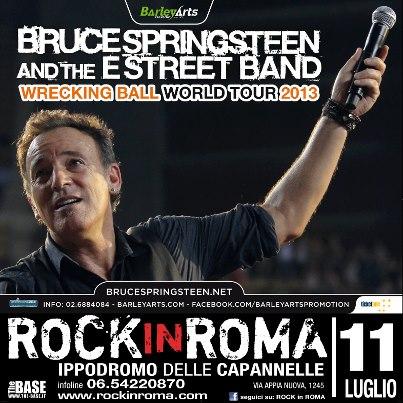 Accadde oggi: Bruce Springsteen & The E Street Band – 11-07-2013 – Ippodromo delle Capannelle – Roma